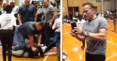 Útočník zákerne kopol Arnolda Schwarzeneggera do chrbta počas stretnutia s fanúšikmi