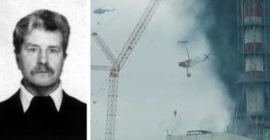 Scéna seriálu Černobyľ, v ktorej sa helikoptéra snaží minimalizovať pozostatky, bola odrazom skutočnej udalosti