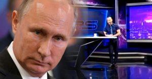 Moderátor vo svojej relácii veľmi hrubo urazil Putina. Televízia musela na niekoľko hodín pozastaviť vysielanie