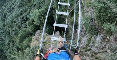 Tomáš zdokumentoval svoju adrenalínovú prechádzku po najdlhšom lanovom moste na Slovensku