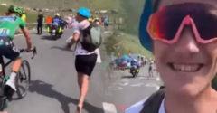 Sagan stihol fanúšikovi podpísať knihu počas šlapania do najnáročnejšieho kopca Tour de France