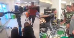 Narážali do ľudí, zhadzovali veci a nezastavili sa ani pred údermi. Bicyklový gang terorizoval ľudí v supermarkete.