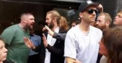Mäsožravý chalanisko chcel dostať svoj hamburger počas vegánskeho protestu