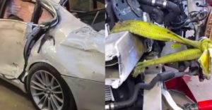 Pán klampiar dokázal aj zo zdemolovanej totálky BMW 7 spraviť opäť krásne auto