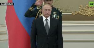 V Saudskej Arábii zahral orchester Putinovi ruskú hymnu. Výkon ako z hodiny hudobnej výchovy ZŠ