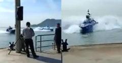 Polícia predvádza nové vybavenie. Z brzdných manévrov ich člnov ide strach