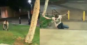 Bežal, nevzdal to! Podgurážený mladík sa snažil utiecť pred policajtmi :D