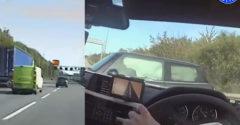 Po naháňačke na diaľnici v 200 km/h ho policajti zastavili ukážkovým manévrom