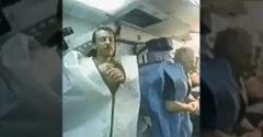 Záber na spiacich astronautov vo vesmíre (Pohľad ako z hororu)