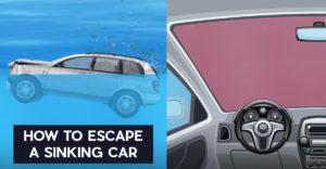 Ako najlepšie uniknúť z potápajúceho sa auta