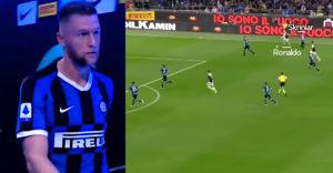 Najlepšie obranné súboje Milana Škriniara. Nechýbajú esá ako Ronaldo, či Suarez (Defenzívna mašina)