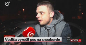 Vodiča vraj vyrušil pes so snowboardom, ktorý mu prepína pesničky (Slovensko)