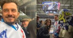 Orlando Bloom sa objavil na hokeji v českom Kladne. Prišiel fandiť Jaromírovi Jágrovi