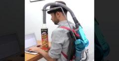 Zostrojil zariadenie na konzumáciu Pringles bez použitia rúk