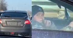 Dieťa za volantom ostrého Subaru pobúrilo vodičov. Polícia ho nechala ísť ďalej