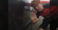Chlapec nechal odkaz majiteľovi Nissanu 370z