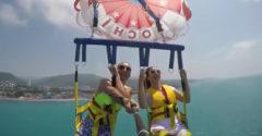 Ako to vyzerá, keď sa pretrhne lano na parasailingu