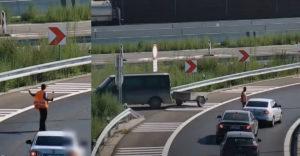 Robí si z nás dobrý deň? Samozvaný regulovčík na diaľnici D4 (Bratislava)