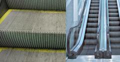 Prečo sa na schodoch eskalátorov nachádzajú vertikálne drážky