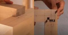 Japonský stolár ukazuje spôsoby spájania dreva (Detailná prácička)