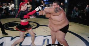 MMA bojovníčka s váhou 63 kg vs. 240 kg youtuber