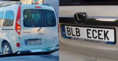 Najvtipnešie ŠPZ, ktoré sa Slovákom podarilo zachytiť na cestách