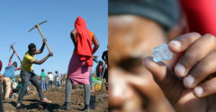 Dedina v Južnej Afrike bola zachvátená diamantovou horúčkou. Na pole sa vybralo viac ako tisíc ľudí
