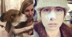 Pes neustále oňuchával majiteľku v oblasti jej nosa. Keď prišla k lekárovi, vypočula si strašnú diagnózu