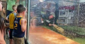 Otec zachránil trénerku pred útokom aligátora (Hrdina v ZOO)